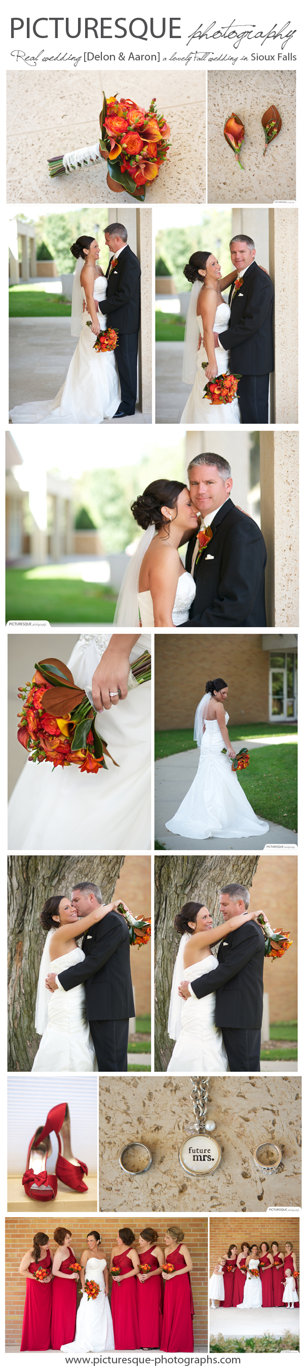 A Lovely Fall Wedding South Dakota Iowa Minnesota