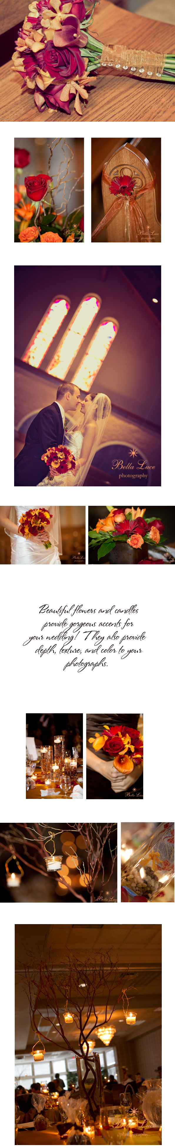 Wedding Flowers and Candles