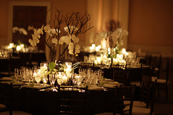 Black And Ivory Wedding Tables